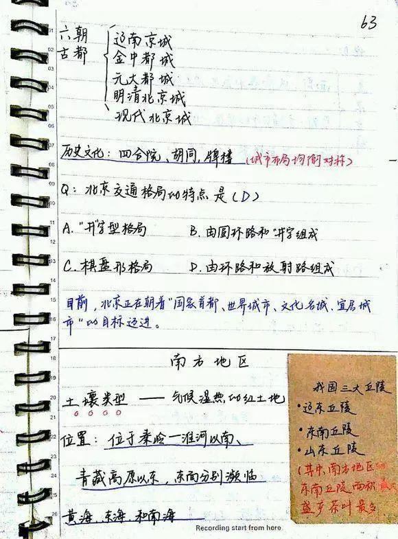 初中地理学霸笔记(全4册)